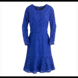 J.CREW Long Sleeve Dress in Floral Lace